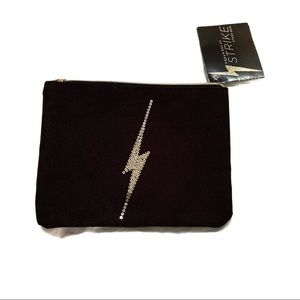 Urban Decay Black Sequin Make-up Pouch NWT Small